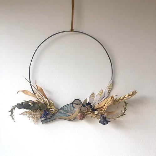 Blue Tit Circle Wreath (large)