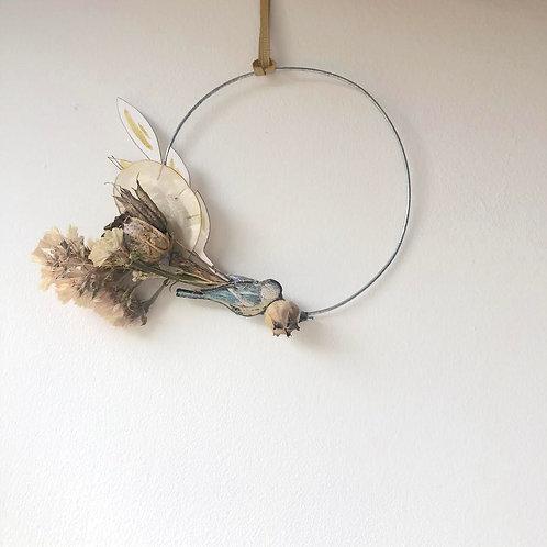 Blue Tit Wreath (mini)