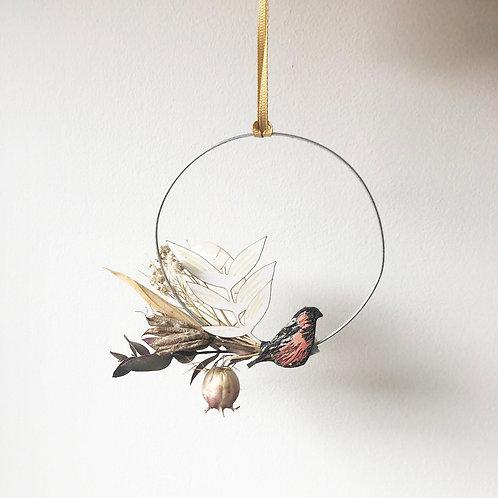 Bullfinch Circle Wreath (mini)