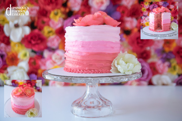 Our Raspberry Ombre Cake