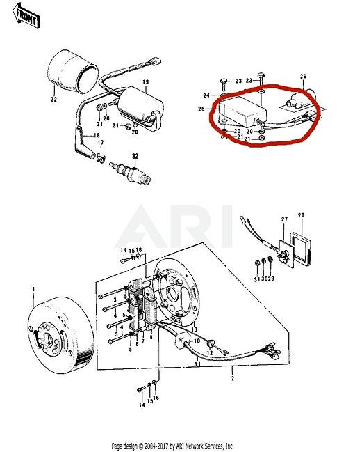 Genuine Kawasaki OEM Ignition Unit, 21119-013