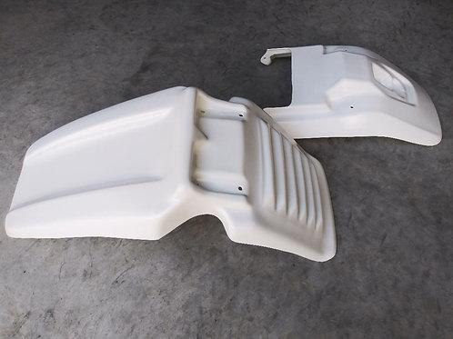 Front + Rear Fender, White, Yamaha BW200 Big Wheel