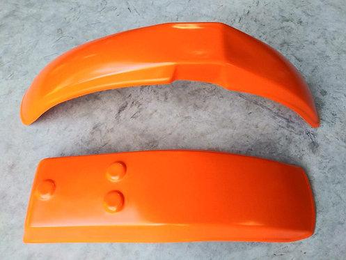 Front + Rear Fender, Orange, Harley Davidson MX250