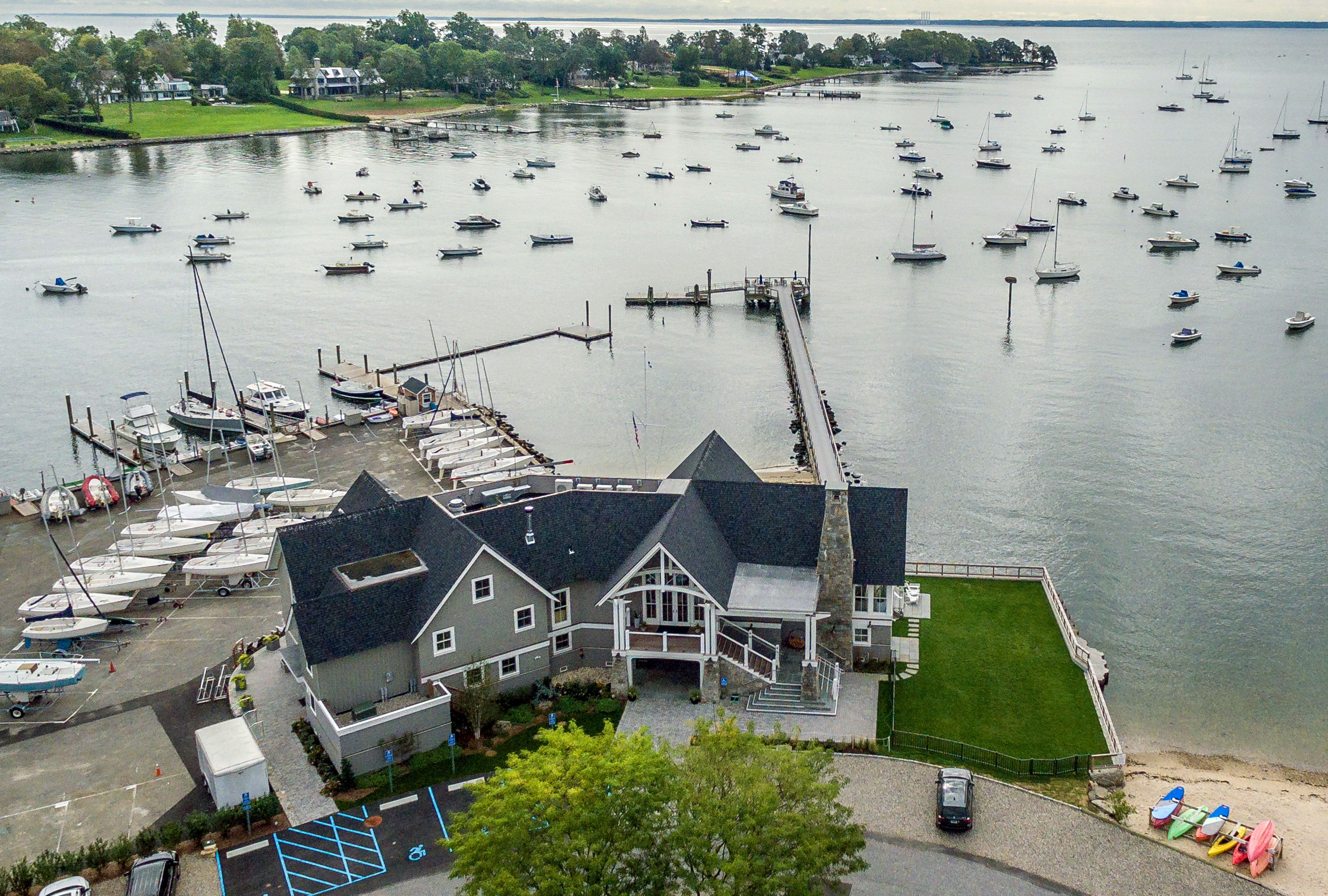 Noroton Yacht Club aerial front view