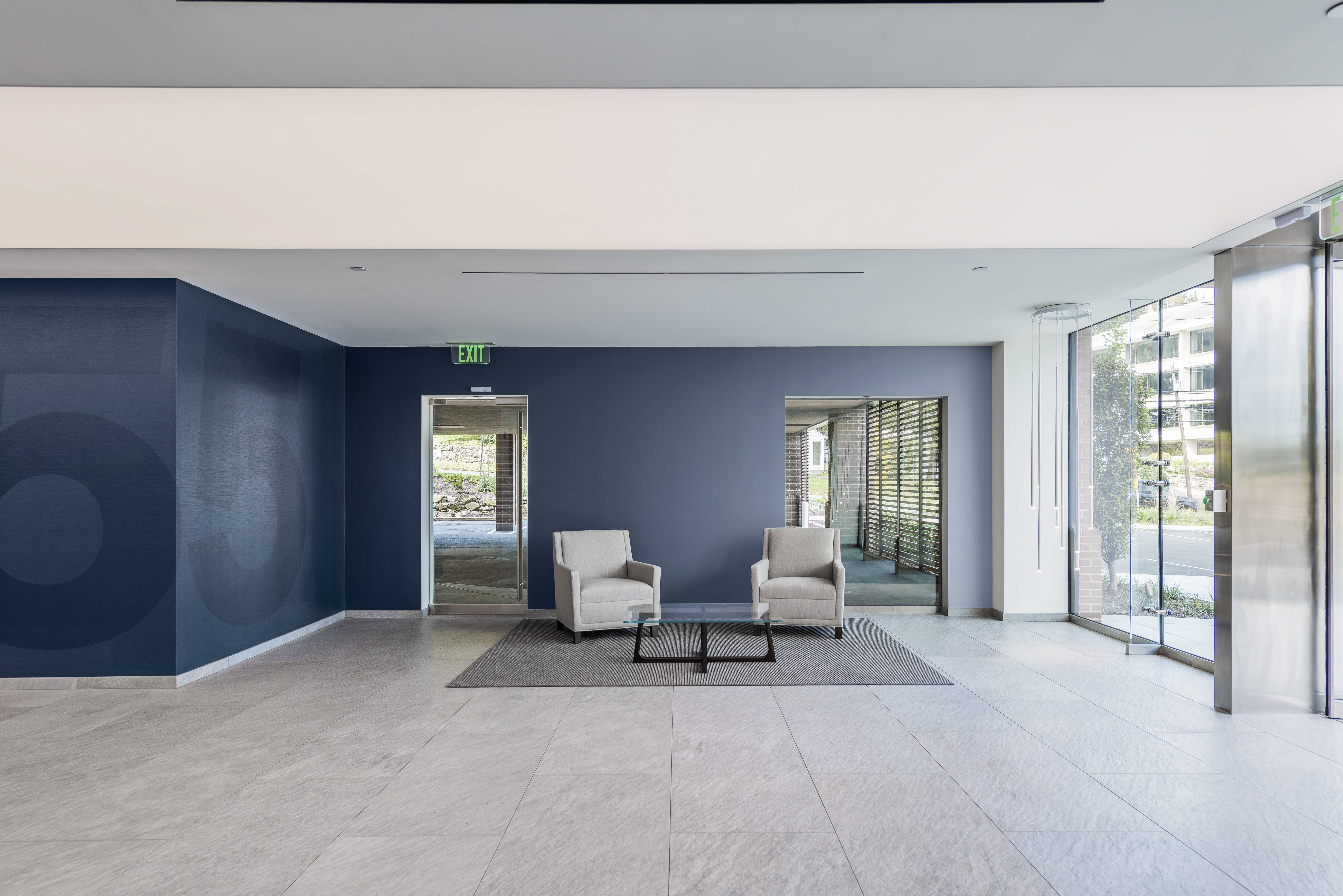 55 Post Road West lobby