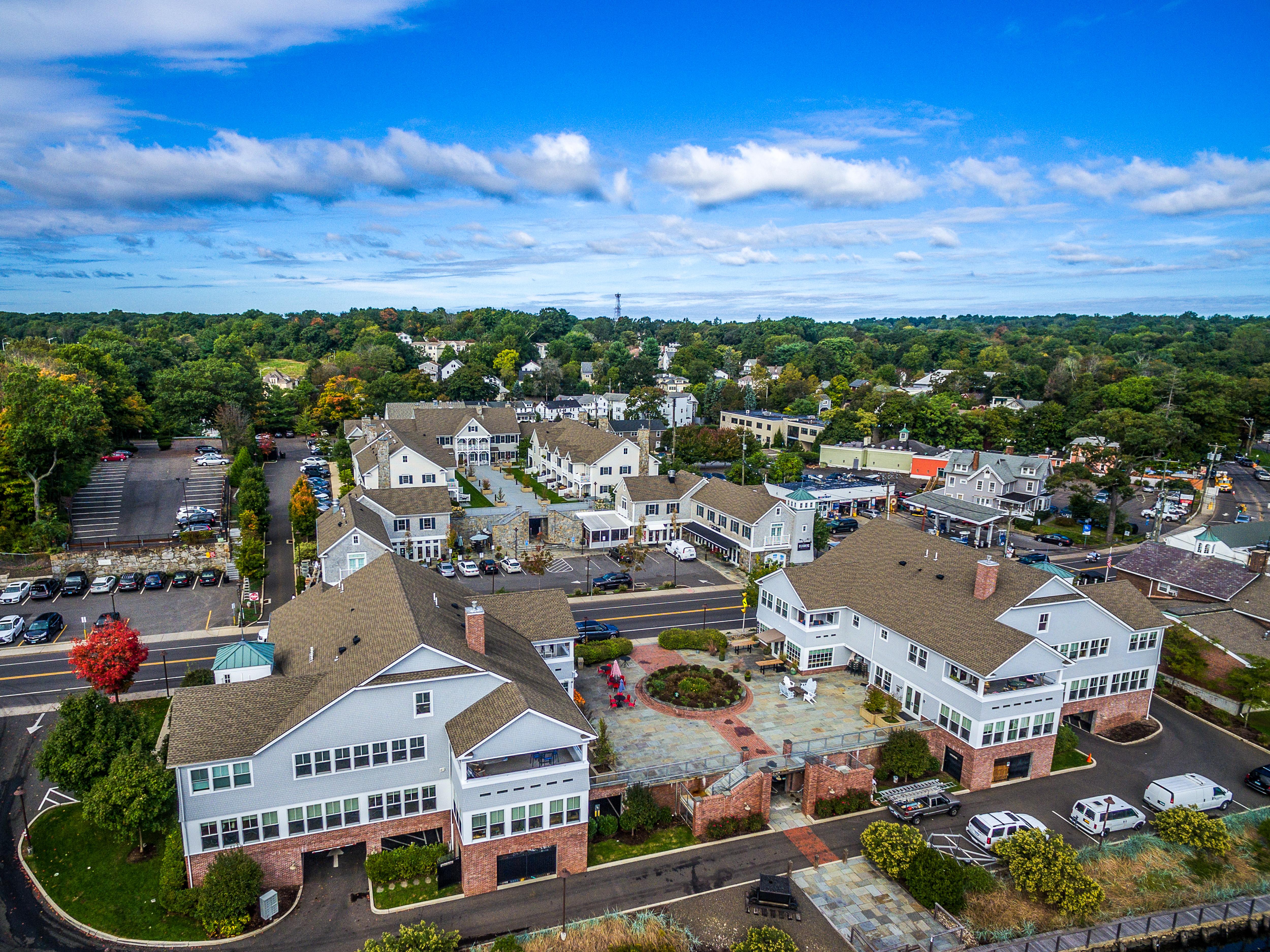 Saugatuck Center aerial
