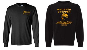 Black Long Sleeve - Whopper Stopper Orange