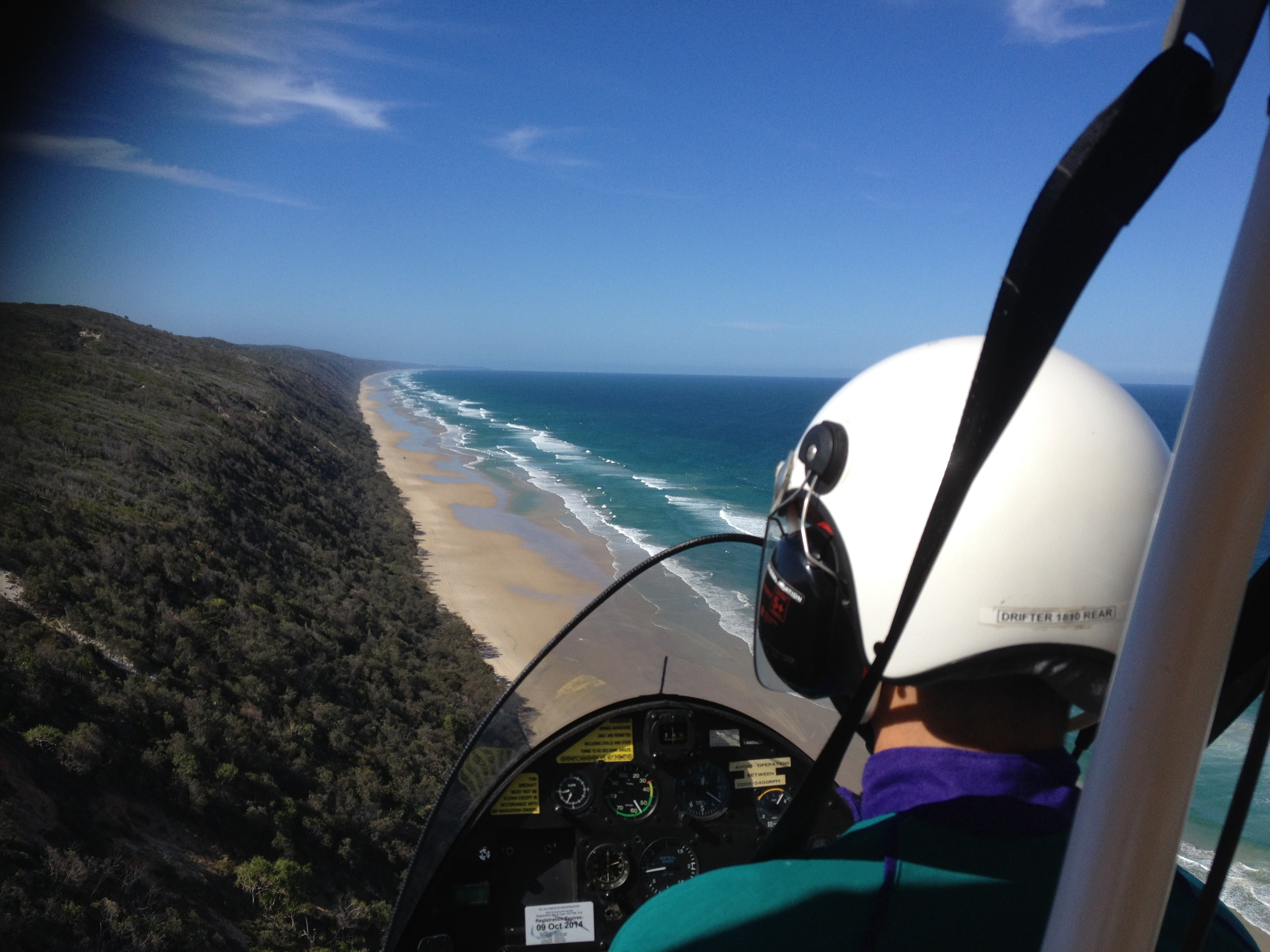 Drifter over coloured sands near Gympie.