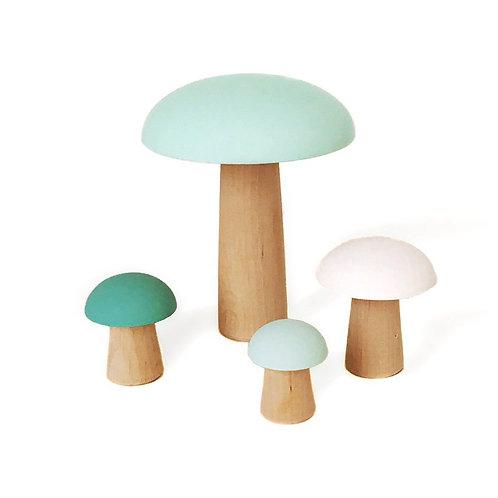 פטריות עץ לדקורציה ועיצוב החדר- מנטה