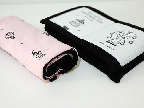 חבילת לידה קיצית  - שמיכה וספר בד לונה פארק