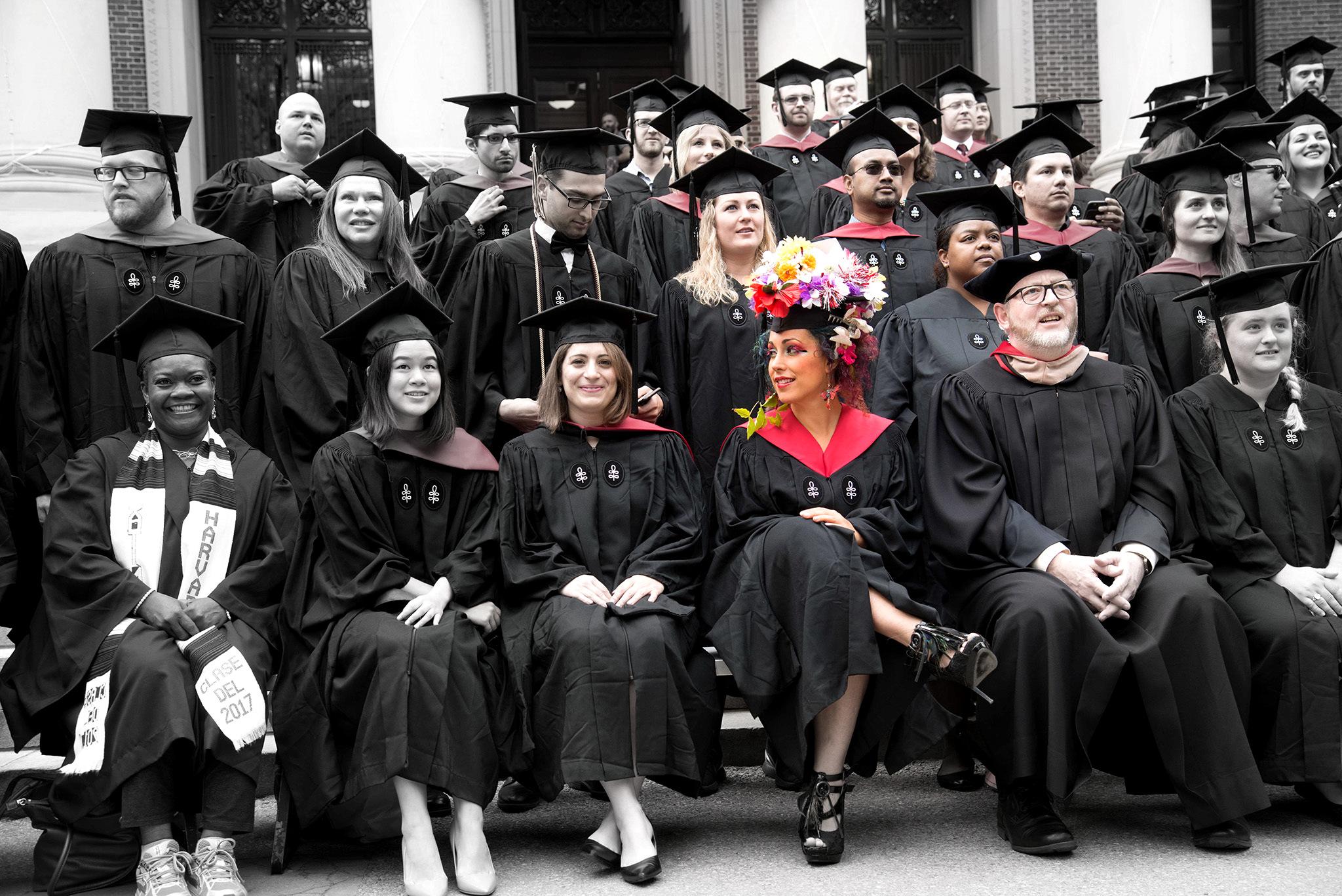Graduating Harvard
