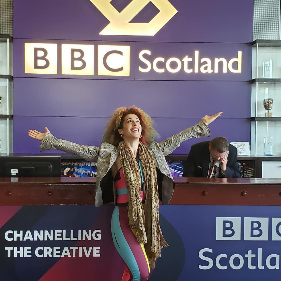 At BBC Scotland!