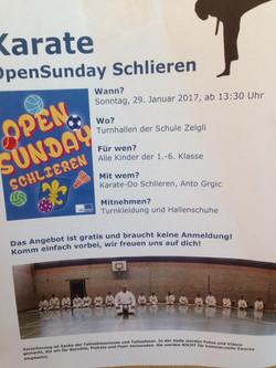 Karate Open Sunday