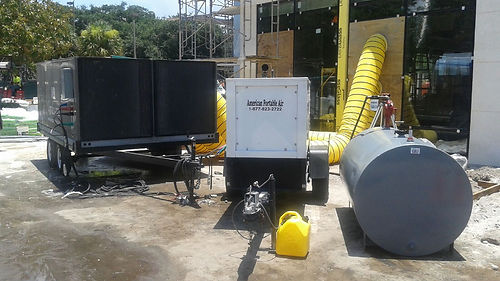 Generator and 25ton trailer
