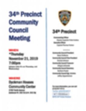 34th Precinct Community Council Meeting