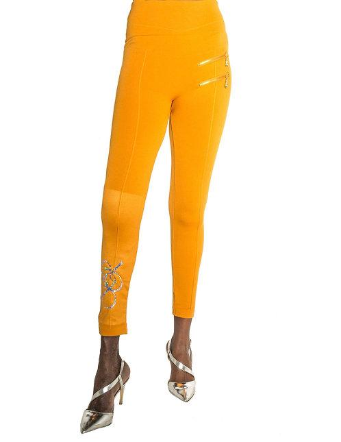 Metallic BR Zipper Legging