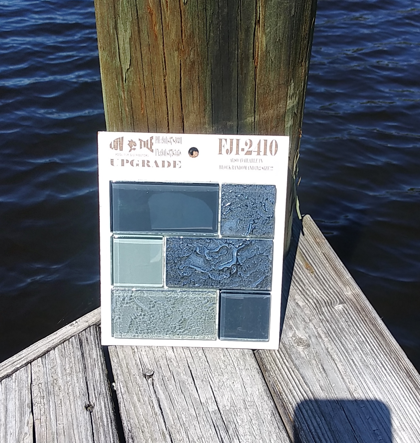 Gray Waterline Pool Tile