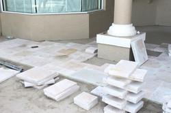 Travertine Deck Installation