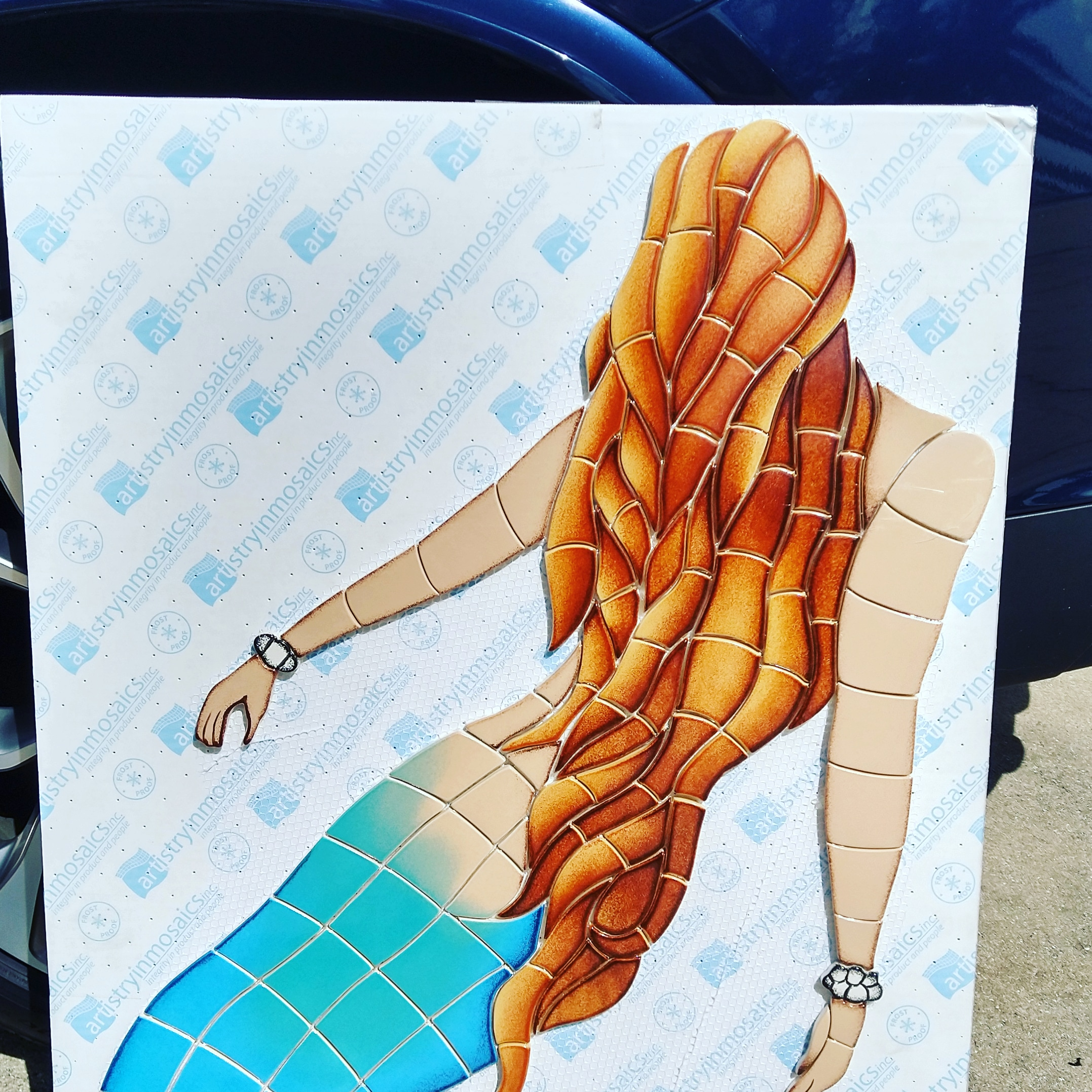 Mermaid - Pool Mosaic Tile