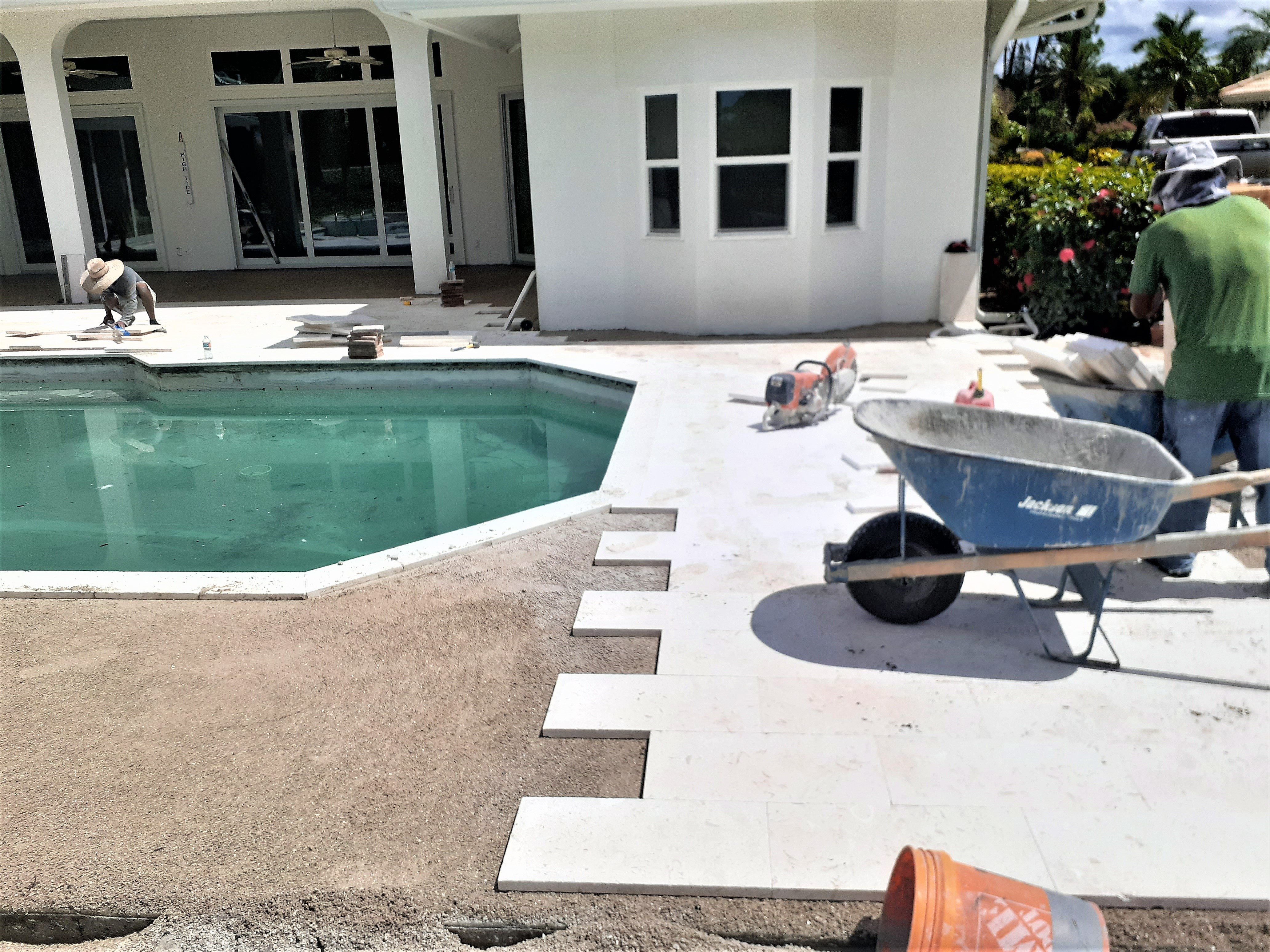 Shell Stone Deck & Coping