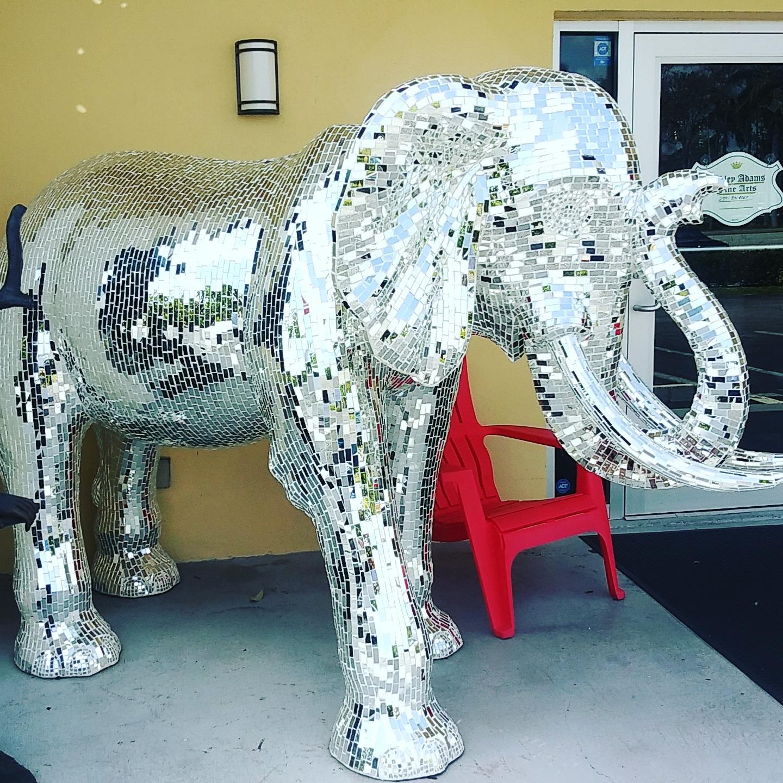 Mirror Elephant Garden Statue 2019