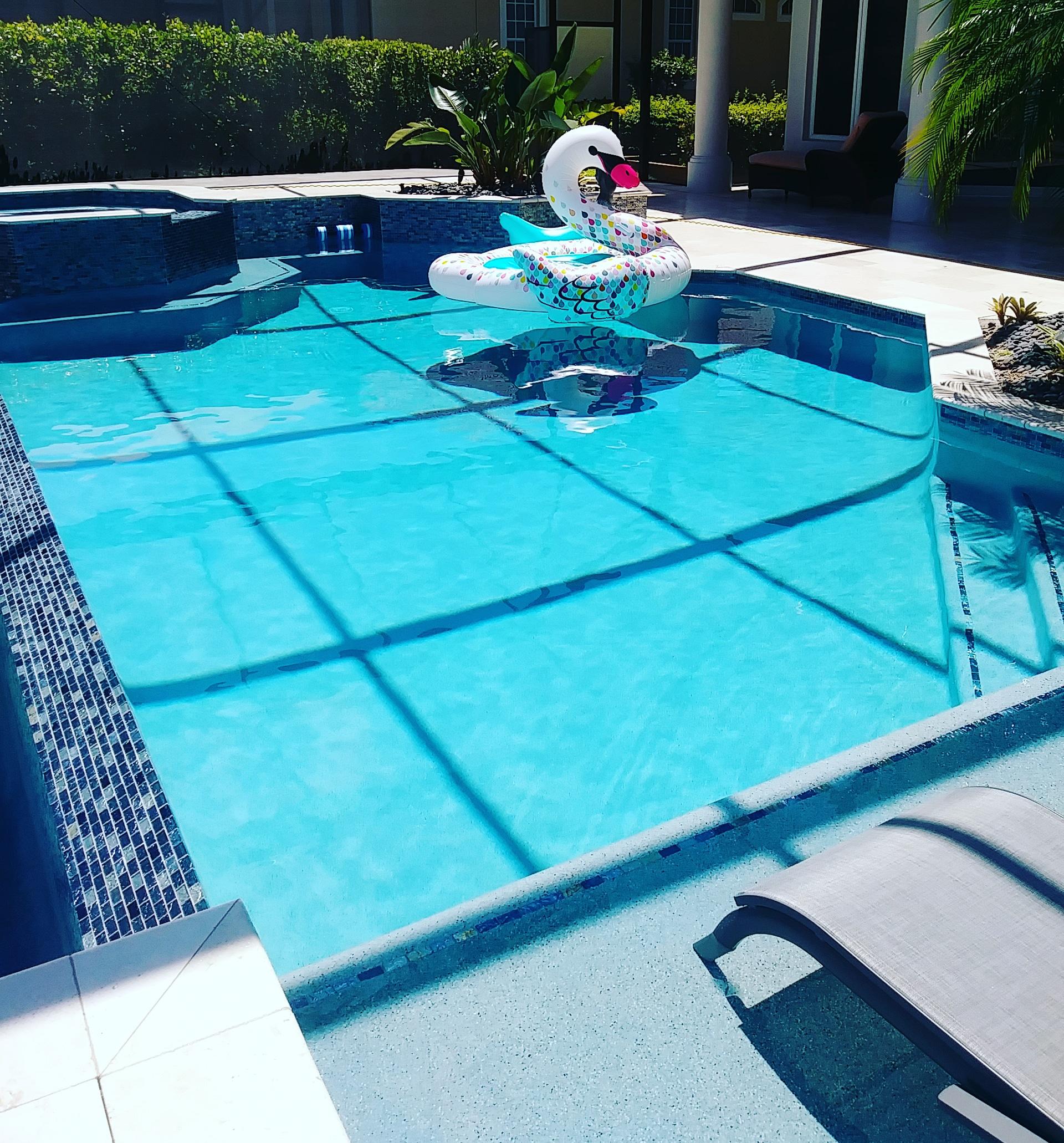 Pool Renovation with Sun Shelf
