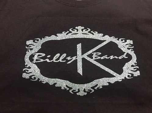 Billy K Band T-Shirt Black Gray Logo