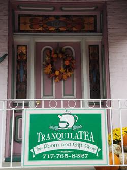 tea shop sign