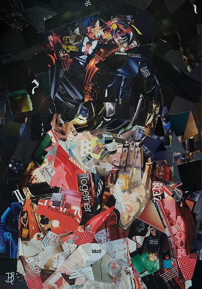"Collage ""Little prayers for better times"" van Danielle Hoppenbrouwers"