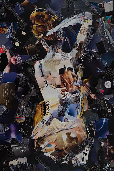 Collage Obscure I van Danielle Hoppenbrouwers