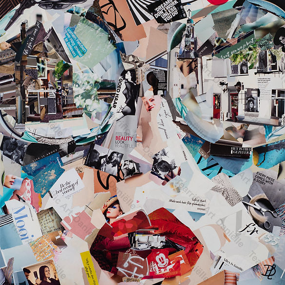 Collage Friss Haarmode van Danielle Hoppenbrouwers