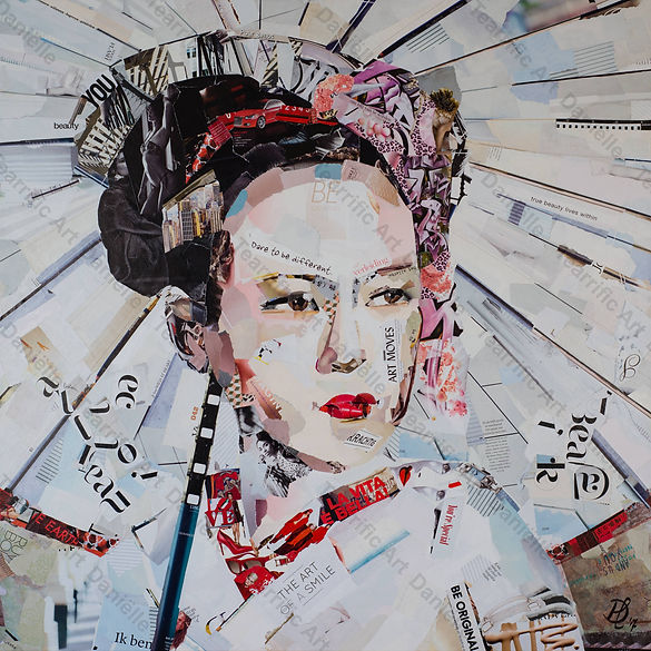 Collage Kiyomi van Danielle Hoppenbrouwers