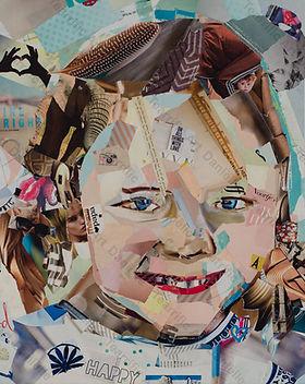 Collage Maatwerk Portret 3 van Danielle Hoppenbrouwers