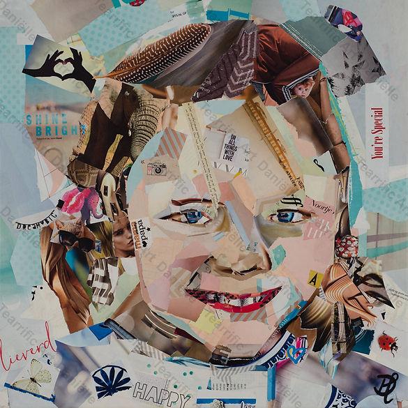 Collage Portret 3 van Danielle Hoppenbrouwers