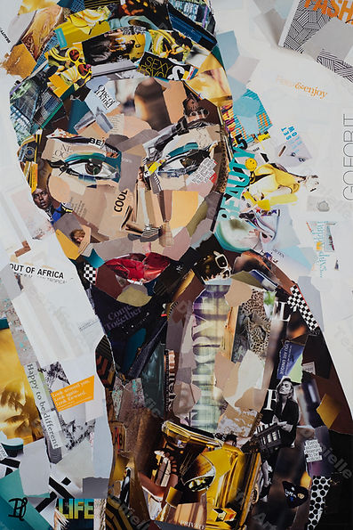 Collage Lost in African Thoughts van Danielle Hoppenbrouwers