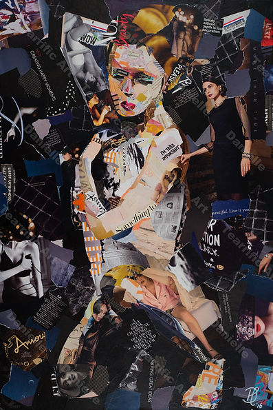 Collage Obscure II van Danielle Hoppenbrouwers