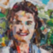 Collage Portret 1 van Danielle Hoppenbrouwers