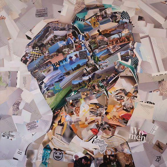 Collage Two African women van Danielle Hoppenbrouwers