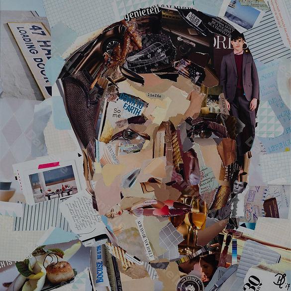 Collage Portret 2 van Danielle Hoppenbrouwers
