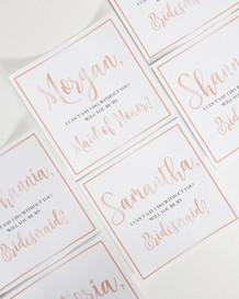 Bridal Party Proposal Labels