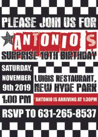 16th Birthday Invitation