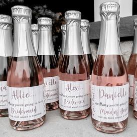 Bridal Party Bottle Labels