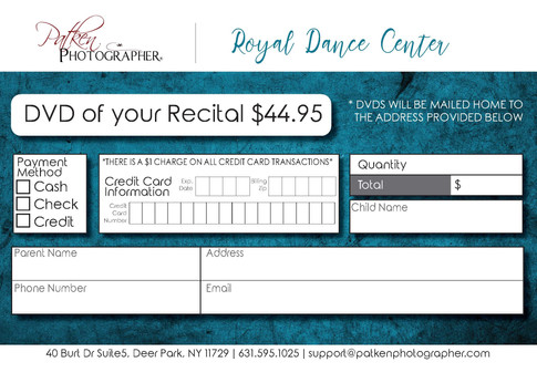 Recital DVD Orders