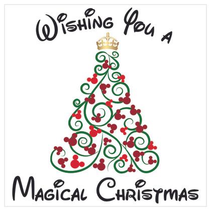Disney Inspired Christmas Card