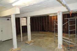 Apartment garage before sheetrock