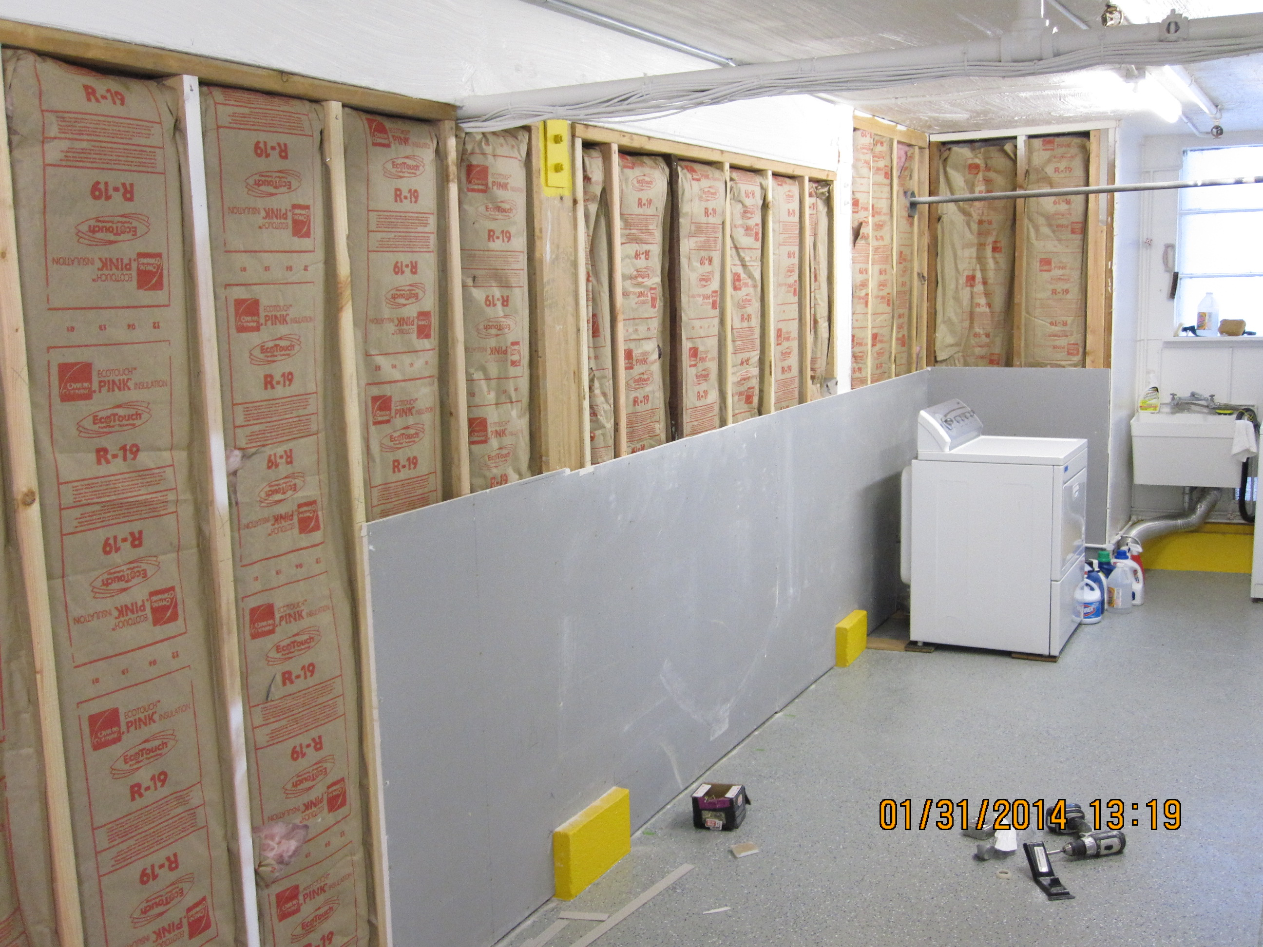 Commercial storage room before