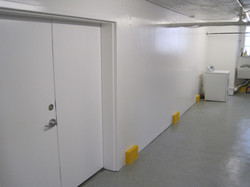 Commercial storage room after