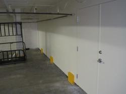 Apartment garage after sheetrock