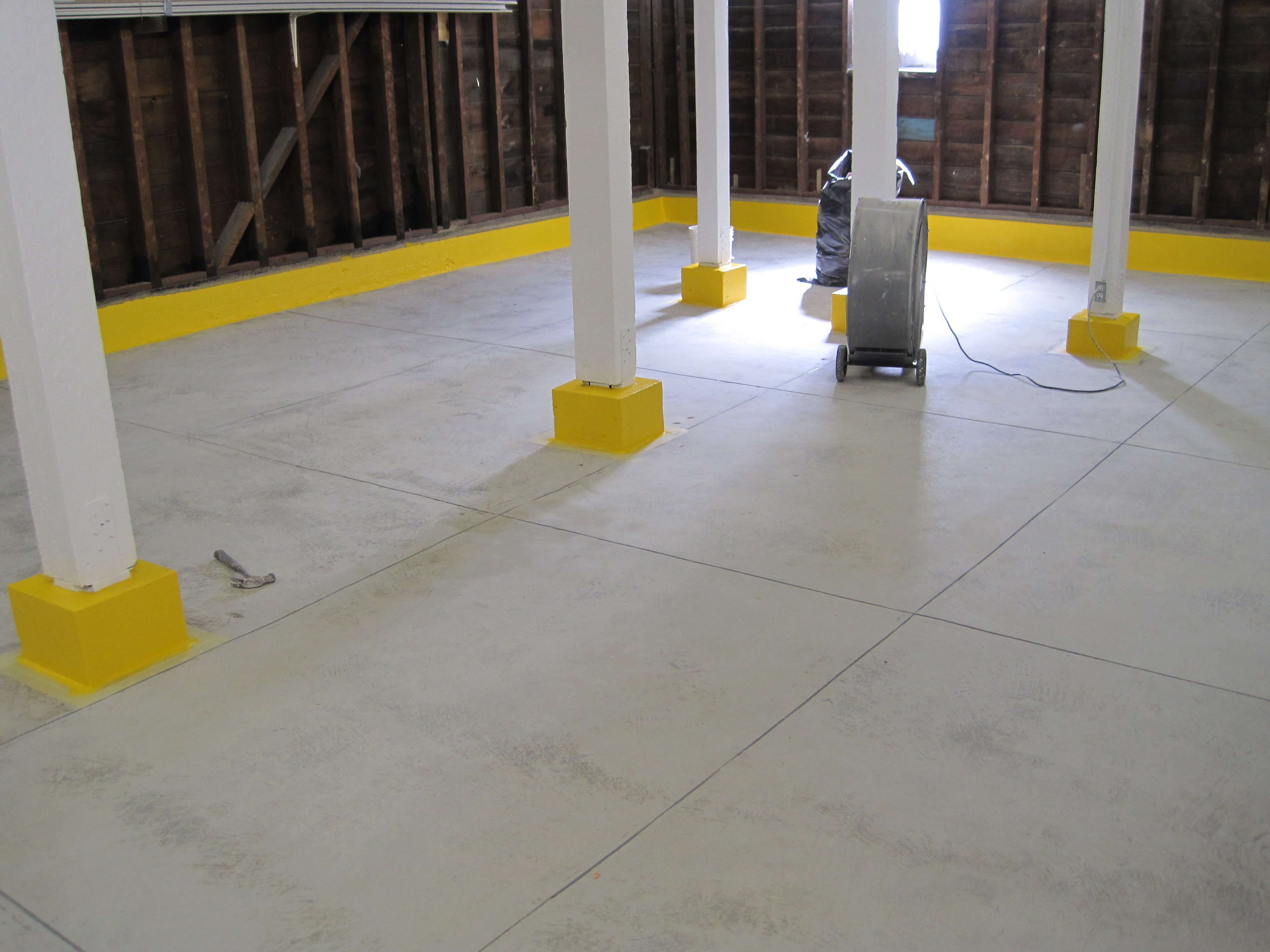 Bare floor prior to coating