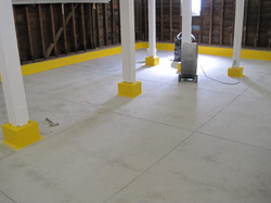 Bare floor prior to coating